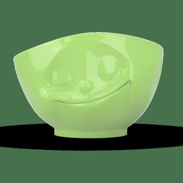 """Schale """"Glücklich"""" außen hellgrün weiß 500ml"""