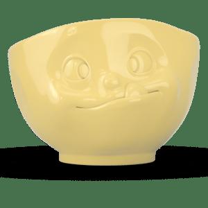 """Schale """"Lecker"""" außen gelb 500ml"""