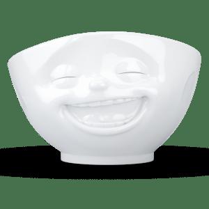"""Schale """"Lachend"""" in weiß 500ml"""