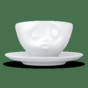 "Kaffee Tasse ""Küssend"" in weiß 200ml"