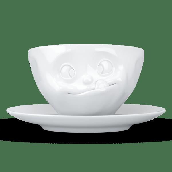 "Kaffee Tasse ""Lecker"" in weiß 200ml"